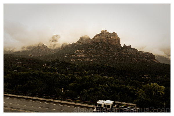 Rain and clouds in Sedona, AZ.