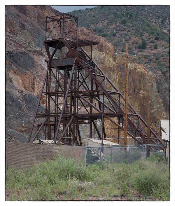 A mine headframe in Jerome, Arizona.
