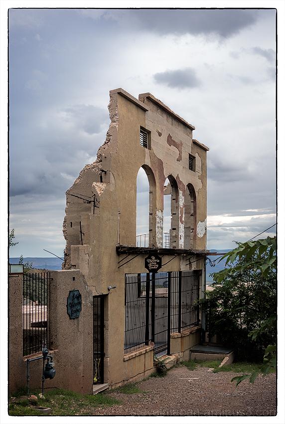 An old facade in Jerome, Arizona.