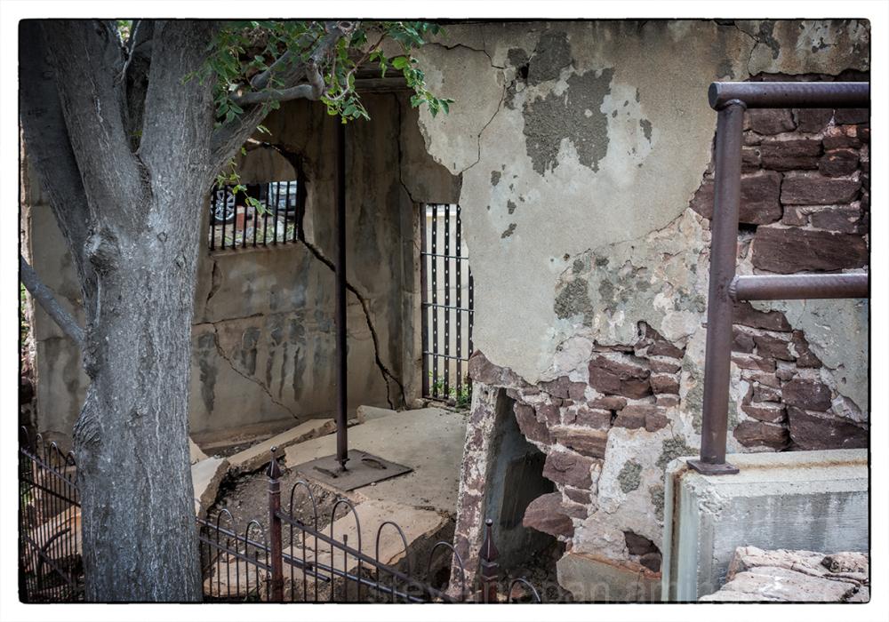 The sliding jail in Jerome, Arizona.