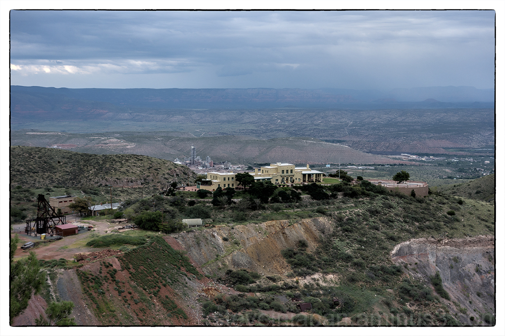 The Douglas mansion in Jerome, Arizona.