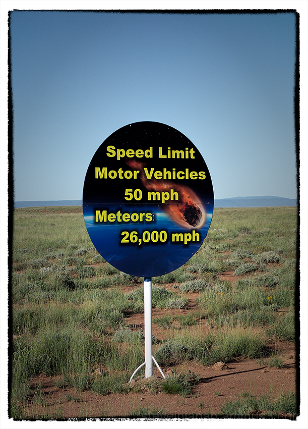 On the road to Meteor Crater, Arizona.