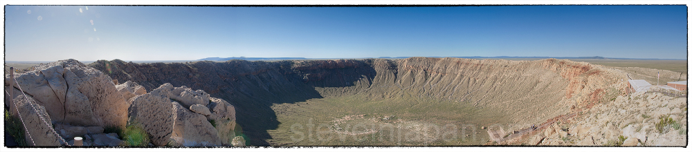 A panorama of Meteor Crater, Arizona.
