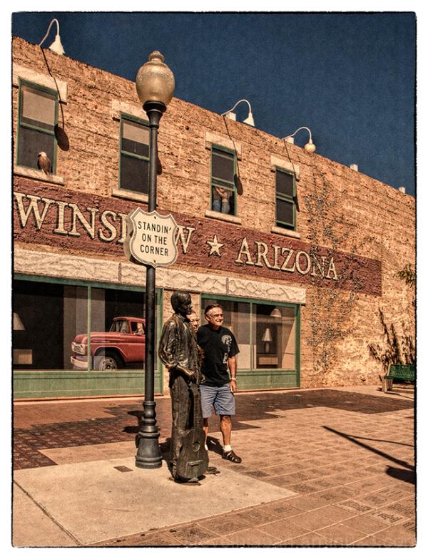 Standin' on the corner in Winslow, AZ.