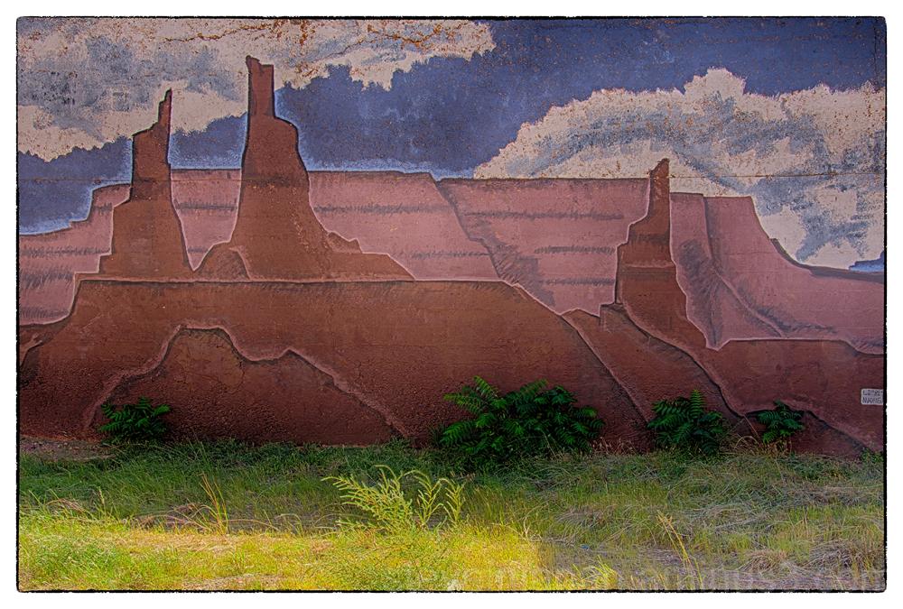 Wall art in Winslow, AZ.