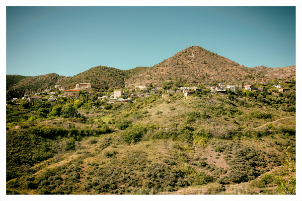 Jerome, AZ from the Douglas Mansion.
