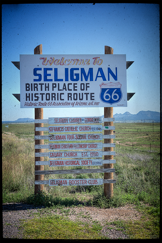 A ride down Route 66 from Seligman, AZ.