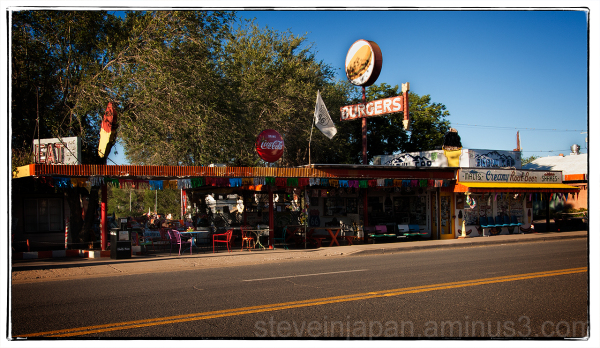 The Snow Cap Drive-in in Seligman, AZ.