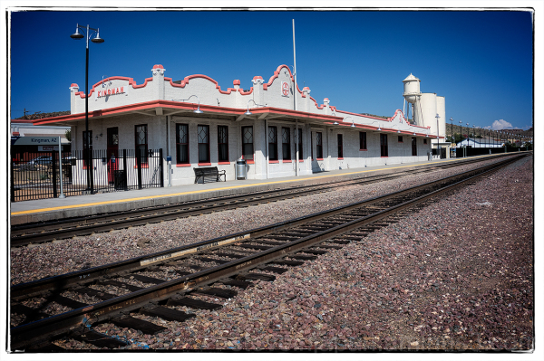 The Kingman, AZ railroad station.