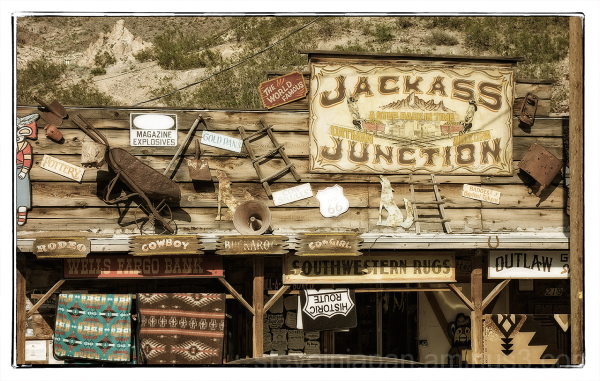 Oatman, AZ on old Route 66.