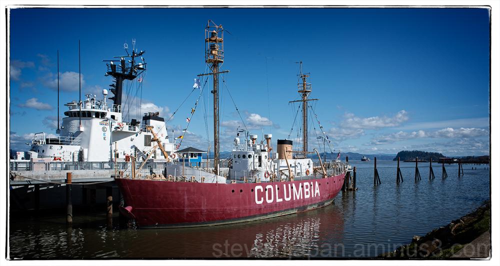 The Lightship Columbia in Astoria, Oregon.