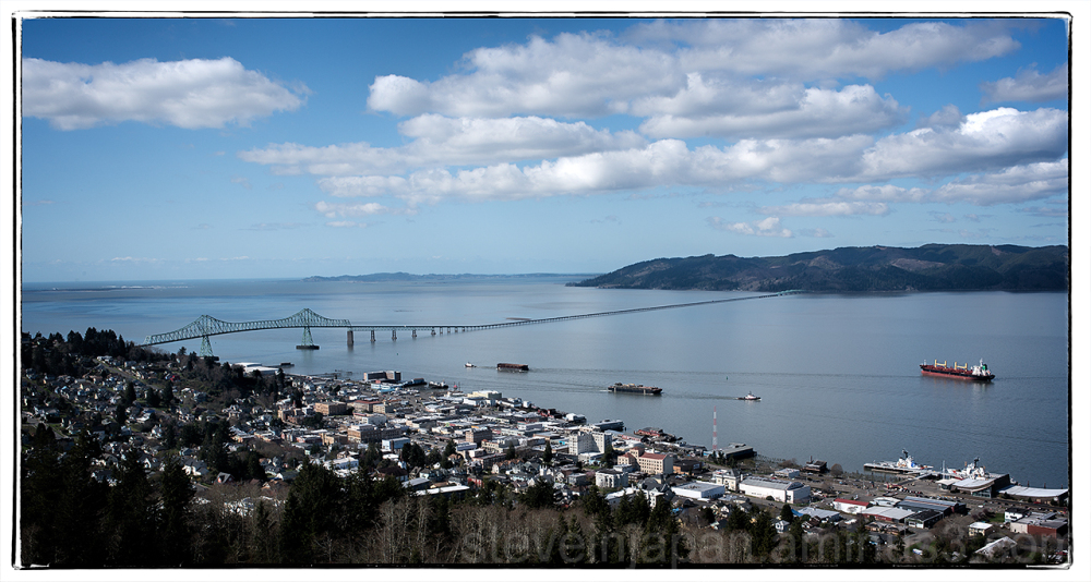 The view from the Column in Astoria, OR.