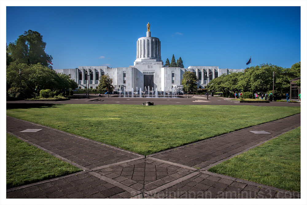 The Oregon State Capitol.