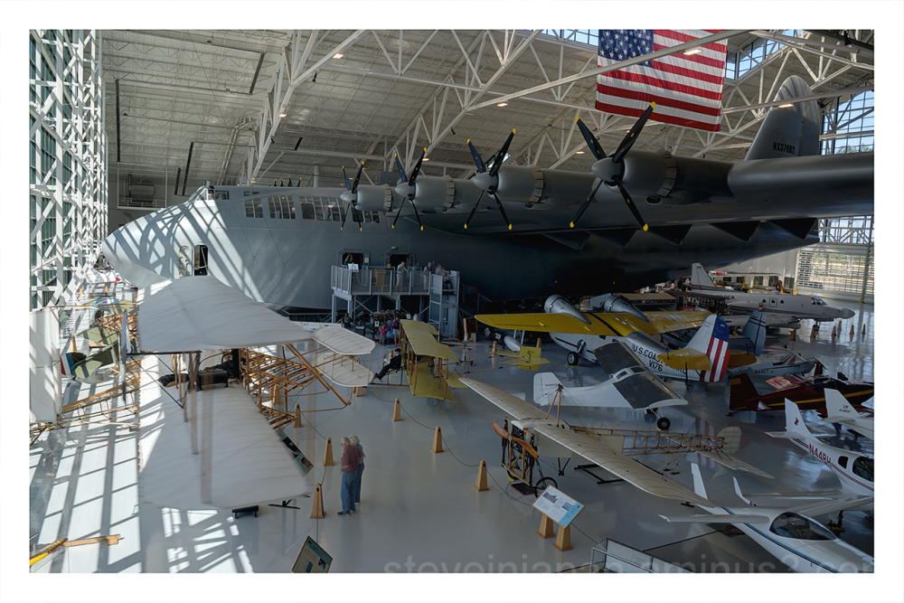 The Spruce Goose on display.