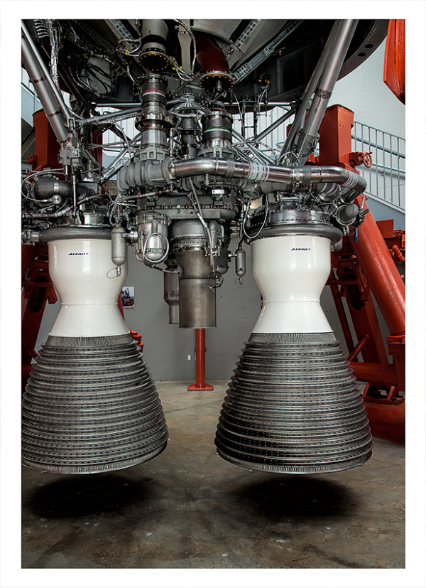The Titan II ICBM on display.