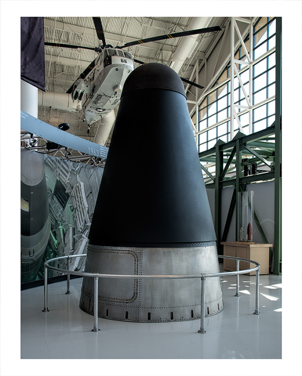 The Titan II ICBM on display.