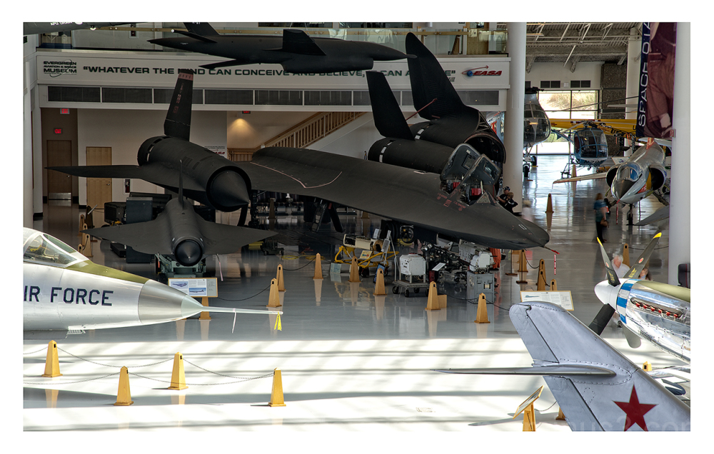 A Lockheed SR-71A  on display.
