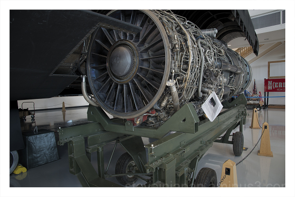 A Pratt & Whitney J58 on display.