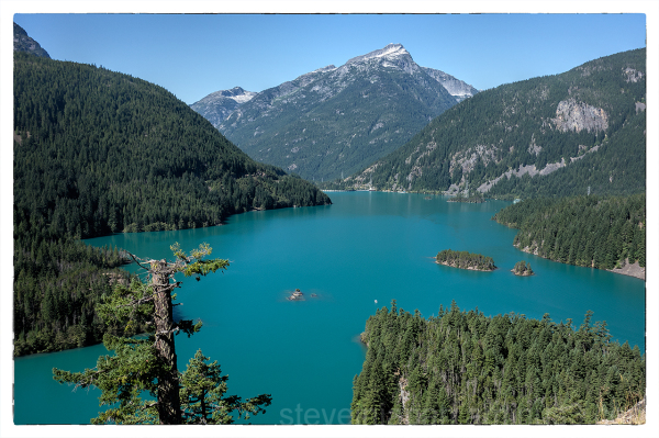 A view of Diablo Lake in the North Cascades.