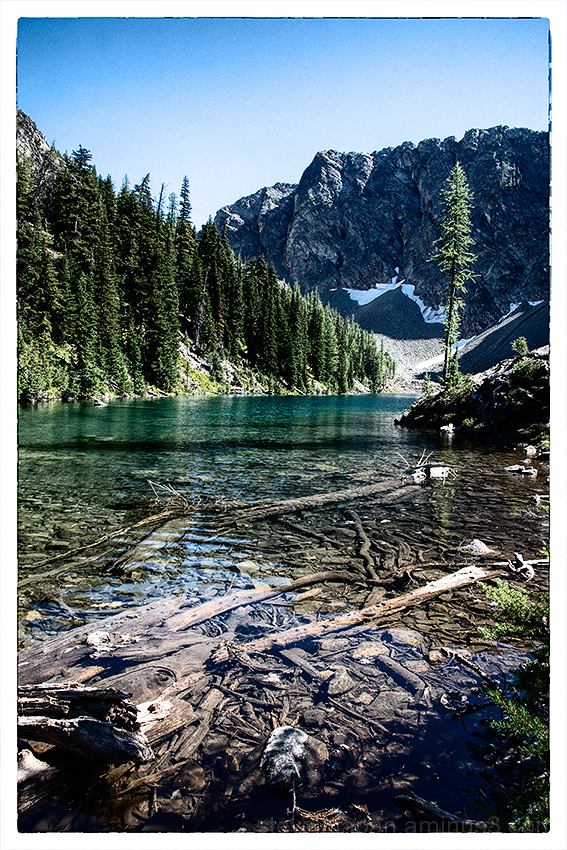 At Blue Lake in the North Cascades.