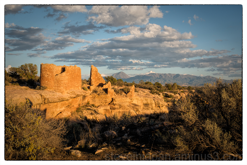 Hovenweep Castle at sunset.