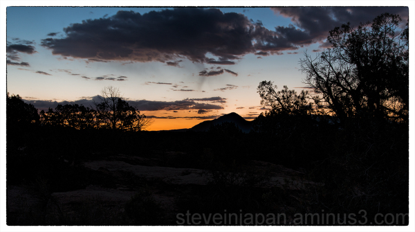 Sunrise at Hovenweep National Monument.