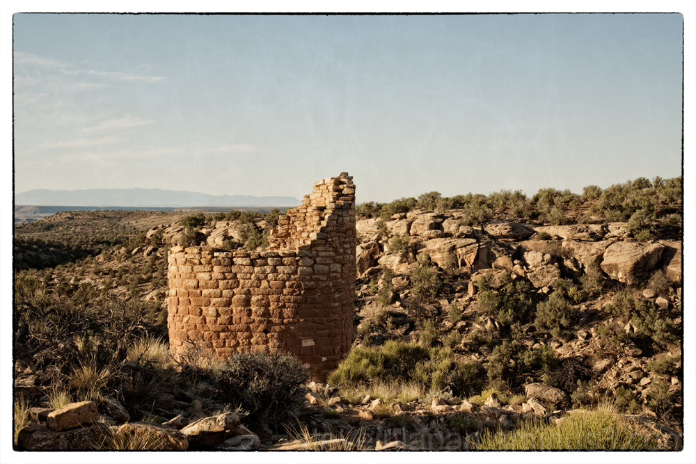 Horseshoe Tower at Hovenweep National Monument.