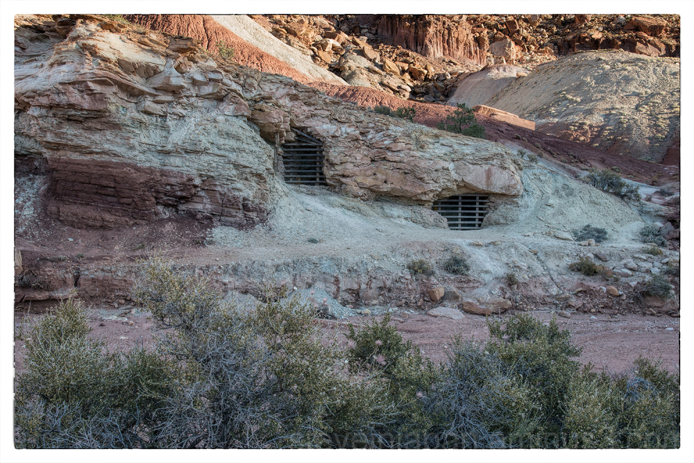 An abandoned uranium mine in Capitol Reef NP.