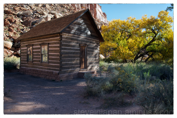 The Fruita school in Capitol Reef NP.