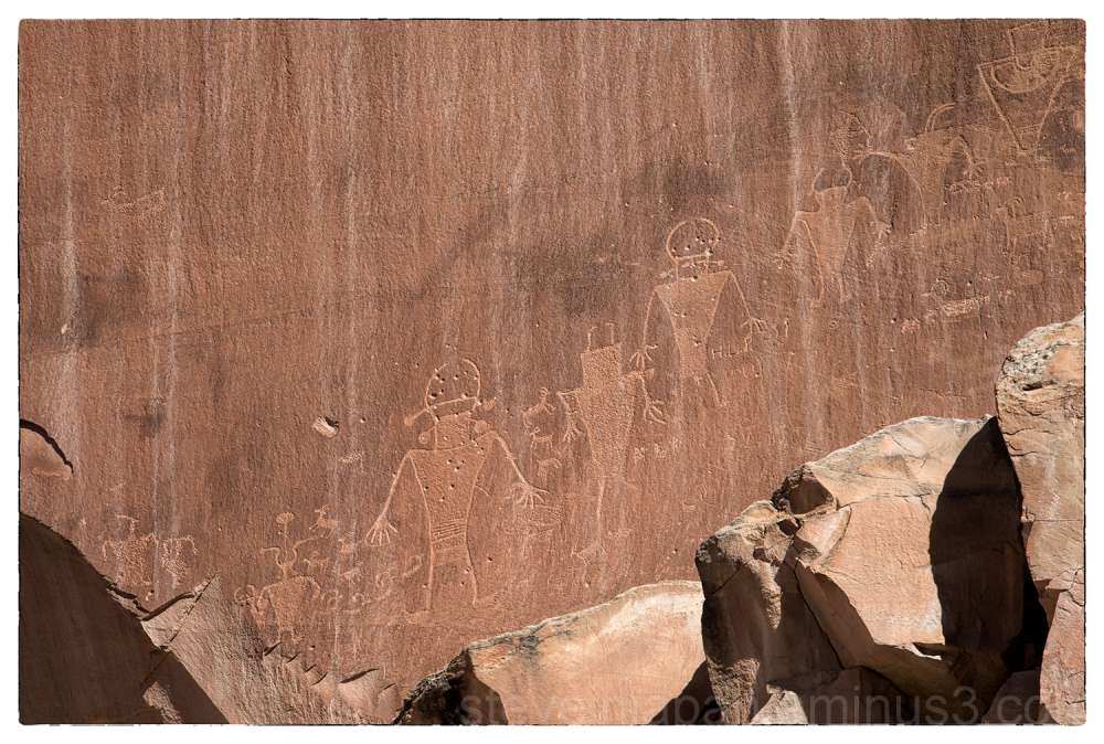 Petroglyphs in Capitol Reef NP.