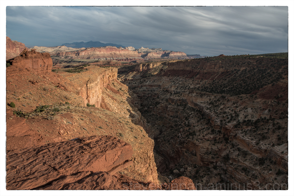 The view from Sunset Point in Capitol Reef NP.