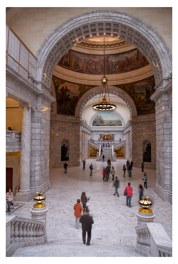 The Utah State Capitol interior.