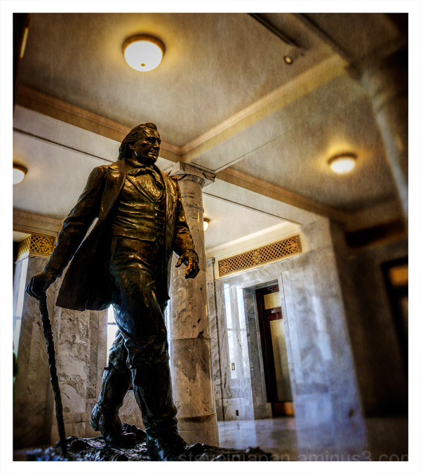 A statue of Brigham Young in the Utah Capitol.