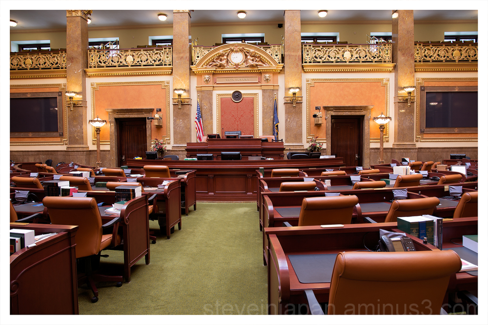 The House chamber in the Utah Capitol.