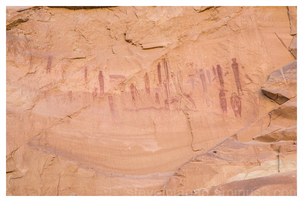 Horseshoe Canyon in Canyonlands National Park.