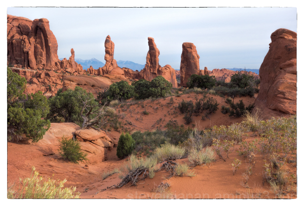 Marching Men formation in Arches NP.