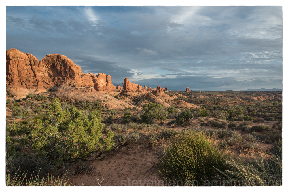 Garden of Eden in Arches National Park.