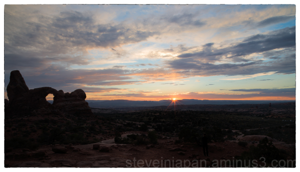 Sunset at Turret Arch