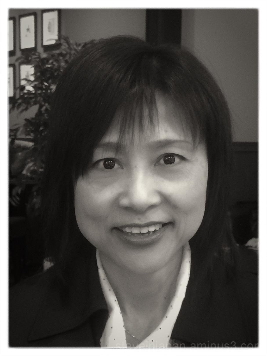 A portrait of Yukari at a Tully's in Hiroshima.