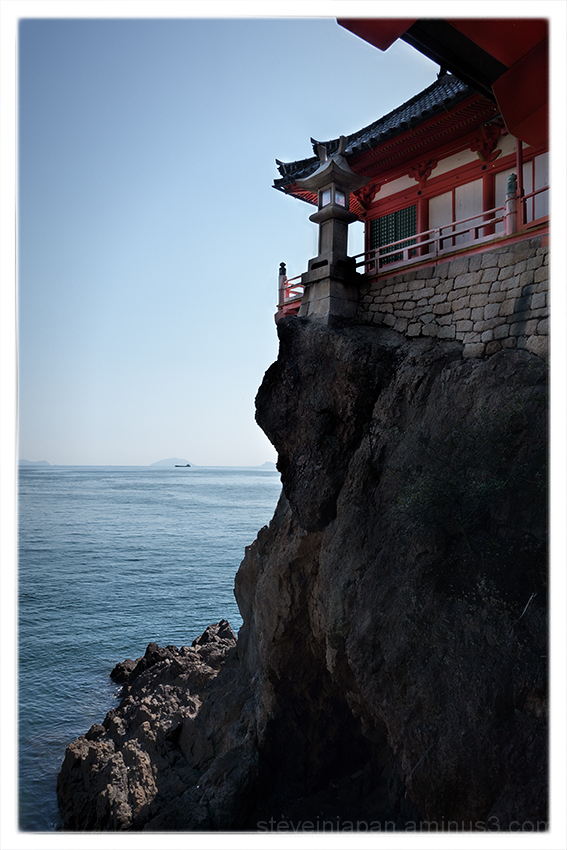 Bandaiji Temple is located on the coast.