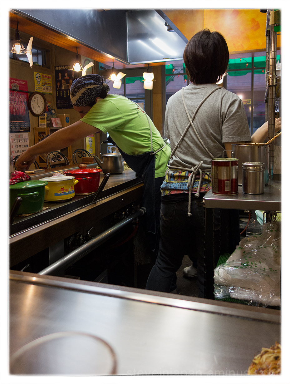 Excellent okonomiyaki at Restaurant Lopez.