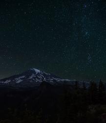 Starry Night at Mount Rainier
