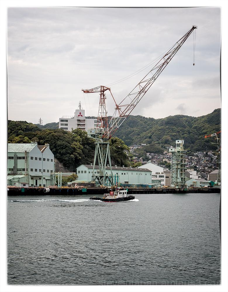 A Mitsubishi ship yard in Nagasaki.