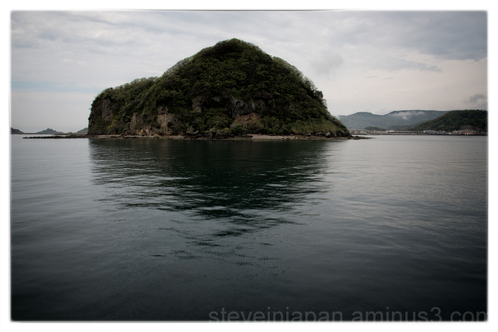 An island on a cruise out of Nagasaki harbor.