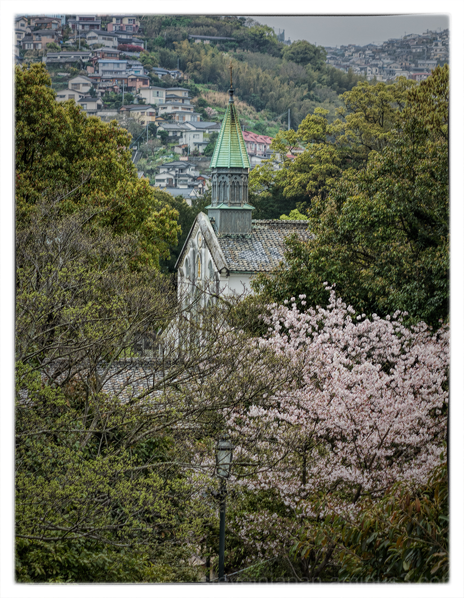 Oura Church from Glover Garden in Nagasaki, Japan.