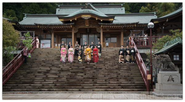 Group photos at Suwa Shrine in Nagasaki, Japan.