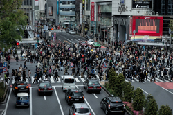 Shibuya Crossing in the afternoon.