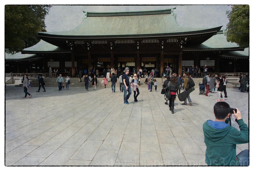 The Meiji Shrine in Tokyo, Japan.