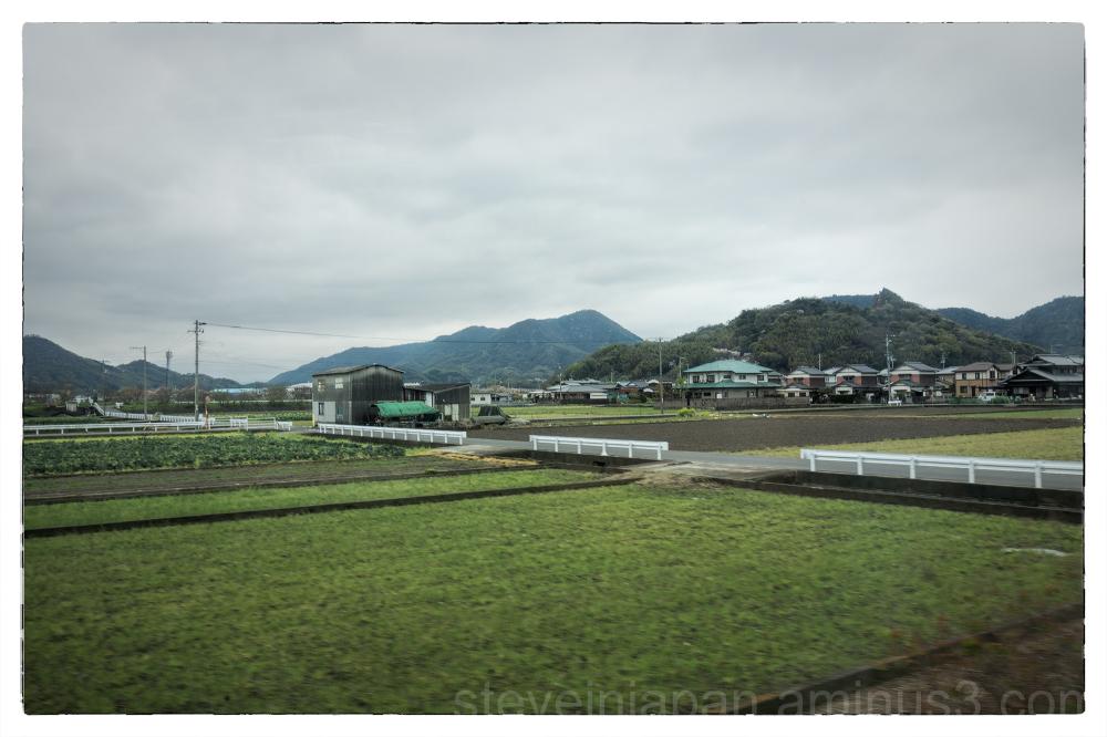 On the local train to Matsuyama, Japan.