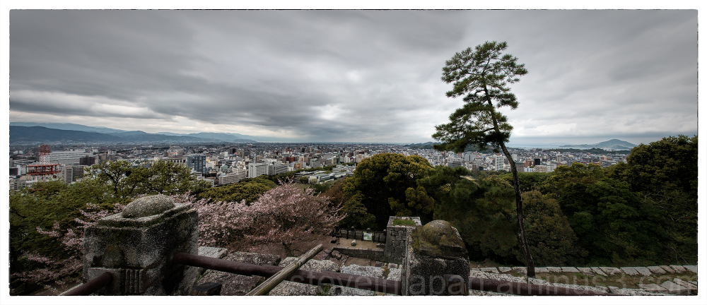 A panorama from Matsuyama Castle.